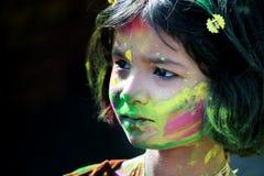 Verticale d'une petite fille Photos libres de droits