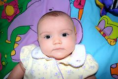 Verticale de bébé photo libre de droits