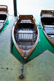 Verticale de bateau à rames Photos libres de droits