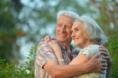 Verticale de beaux couples aînés Photo libre de droits