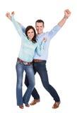 Verticale de beaux jeunes couples Photographie stock libre de droits