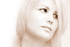 Verticale de belle femme Images libres de droits