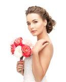 Verticale de belle femme Photos stock