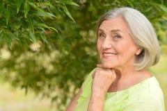 Verticale de belle femme aînée Image stock