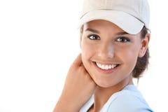 Verticale de belle femme de sourire photo stock
