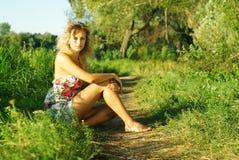 Verticale de belle fille Photo stock