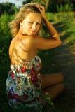 Verticale de belle fille Photo libre de droits