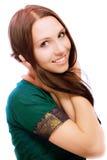 Verticale de belle jeune femme Photo libre de droits