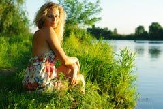 Verticale de belles filles Images stock