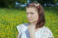 Verticale de belles jeunes femmes Photo libre de droits