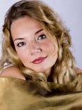 Verticale de blonde Images libres de droits