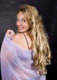 Verticale de blonde Photo libre de droits