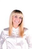 Verticale de blonde de sourire image libre de droits