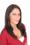 verticale de brunette Photographie stock libre de droits