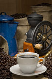 Verticale de café Photos libres de droits
