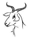 Verticale de chèvre Images libres de droits