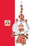 Verticale de champignon de mascotte Photographie stock libre de droits