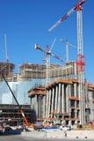 Verticale de chantier de construction photographie stock