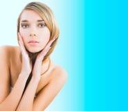 Verticale de charme, visage de modèle de mode de beauté Photographie stock
