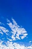 Verticale de ciel assez bleu Photos stock