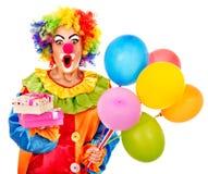 Verticale de clown. Photographie stock