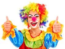 Verticale de clown. Images libres de droits