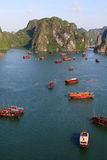 Verticale de compartiment de Halong Photographie stock