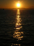 Verticale de coucher du soleil Images libres de droits