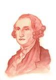 Verticale de couleur pour aquarelle de George Washington Image libre de droits