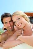 Verticale de couples Images libres de droits