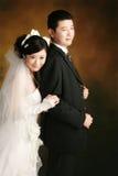Verticale de couples de mariage photos libres de droits