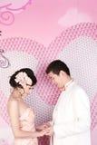 Verticale de couples de mariage images libres de droits
