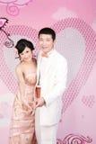 Verticale de couples de mariage Photo libre de droits