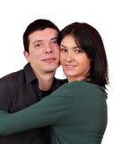 Verticale de couples de type et de fille Photo libre de droits