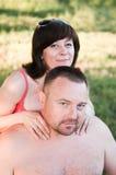 Verticale de couples entre deux âges Photographie stock