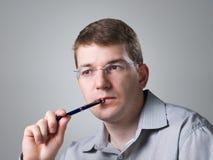 verticale de crayon lecteur d'homme Photos libres de droits