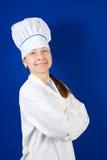 Verticale de cuisinier féminin aîné Photographie stock