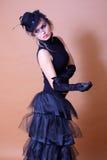 Verticale de dame classique de goth photographie stock