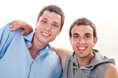Verticale de deux amis Image libre de droits