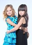 Verticale de deux belles jeunes amies Image libre de droits