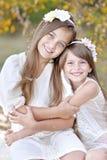 Verticale de deux filles Images stock