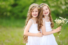 Verticale de deux filles Image stock