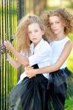 Verticale de deux petites filles Image libre de droits