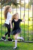 Verticale de deux petites filles Photographie stock