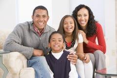 Verticale de famille à Noël Images libres de droits