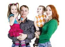 Verticale de famille Photos libres de droits