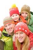 Verticale de famille Photographie stock