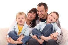 Verticale de famille Images libres de droits