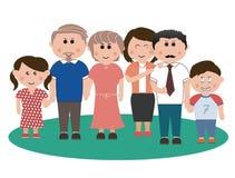 Verticale de famille Illustration Libre de Droits