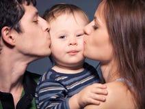 Verticale de famille Photographie stock libre de droits